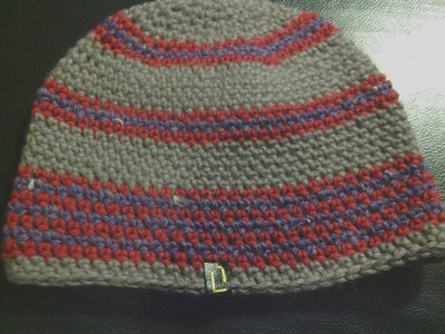cappello uomo donna in lana fatto a mano all'uncinetto C011