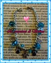 Braccialetto con perle azzurre