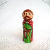 San Giuseppe falegname Gesù Maria figurina Natale bambola