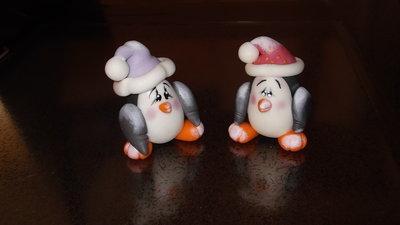 Amabile pinguino, perfetto per un regalo di Natale.