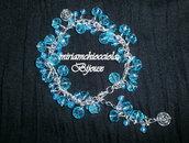 Bracciale con cristalli azzurri