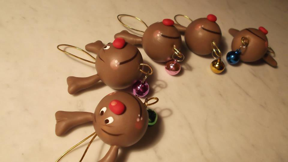 Appendini natalizi a forma di renne