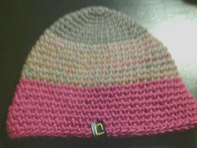 cappello uomo donna fatto a mano all'uncinetto in lana a righe