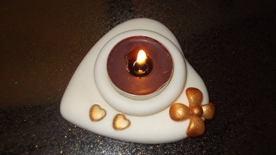Porta candela in pasta di mais