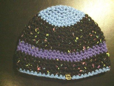 _cappello uomo donna  ragazzo in lana a  righe fatto a mano all'uncinetto C029