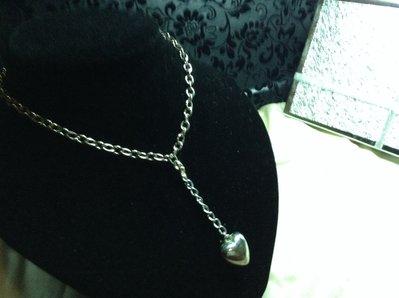 Collana cuore metallo