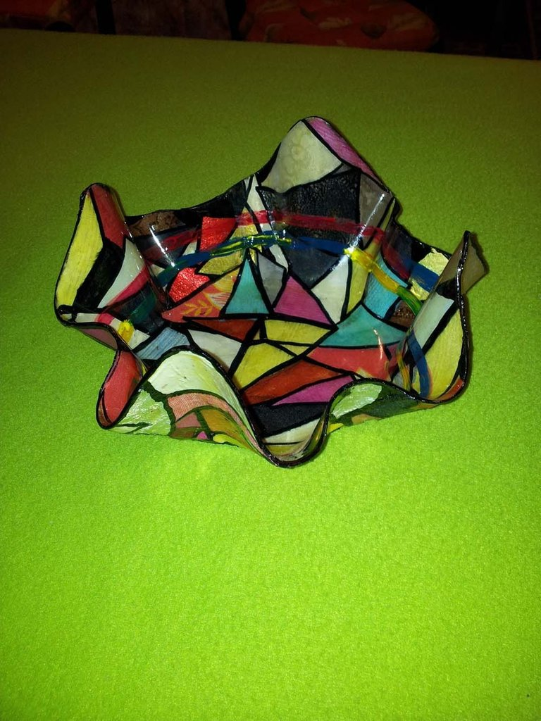 Ciotola  rivestita con tessuti patchwork