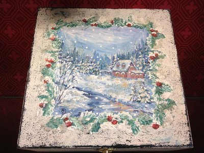 Scatola portaoggetti Bianco Natale