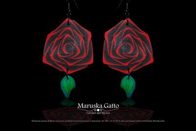 Orecchini rose rosse-012