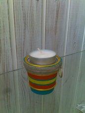 Vasetto porta candela