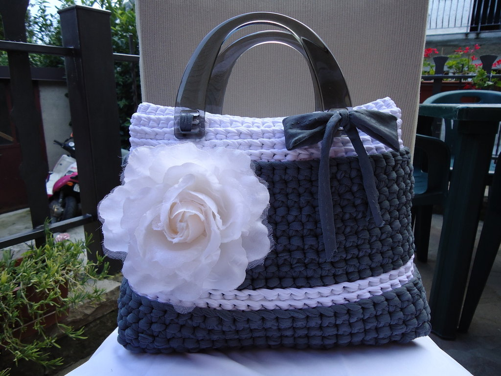 Borsa Gray and Rose