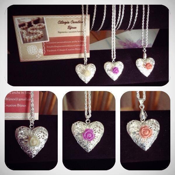 Collana cuore filigrana argento
