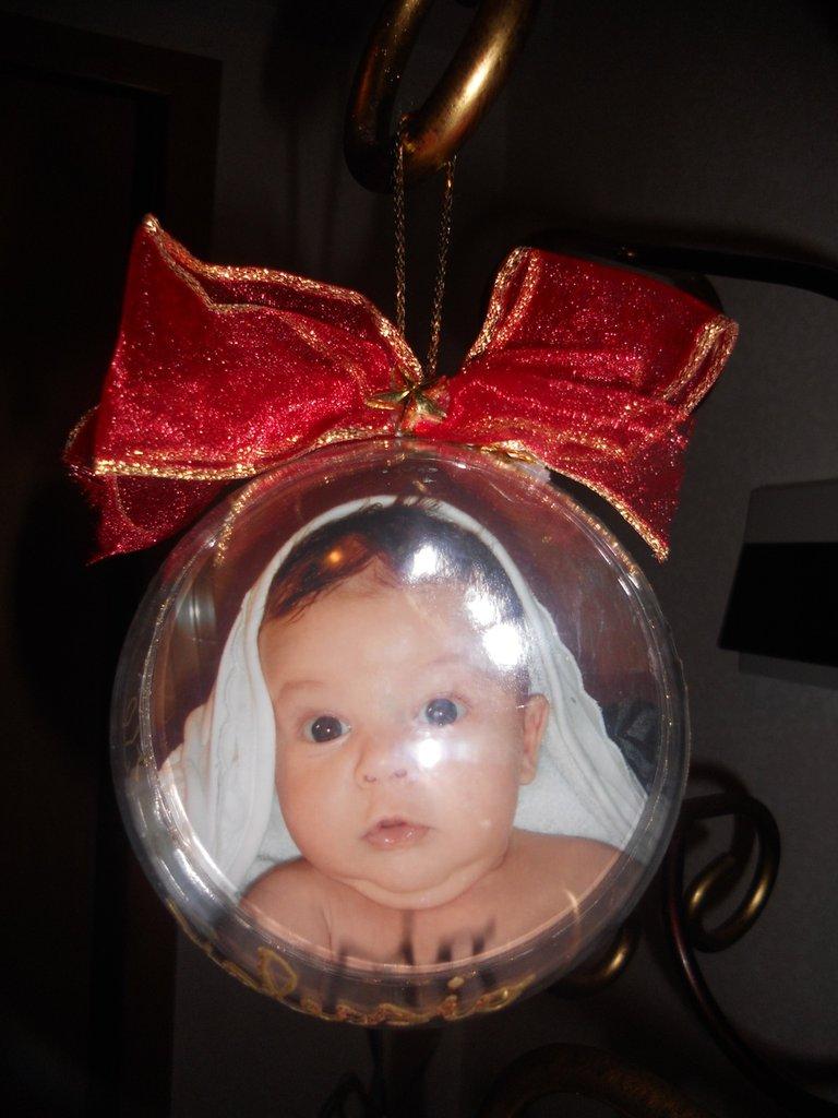 Palla di Natale con foto personalizzata