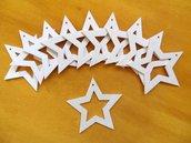 10 Stelline di Natale Traforate per il fai da te o decoupage
