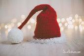 Capellino rosso con ponpon - Idea Natale