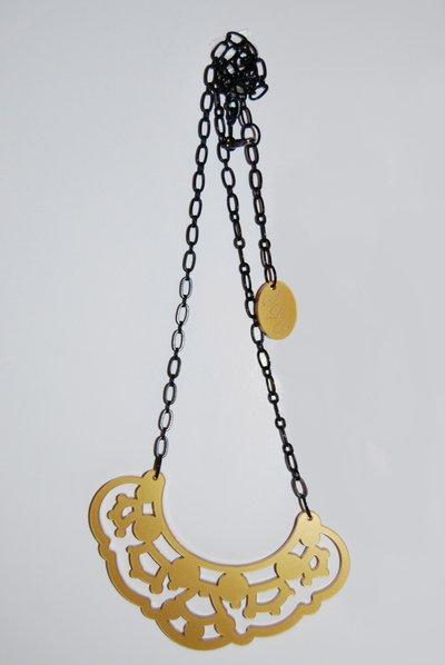 Collana Merletto plexiglass oro