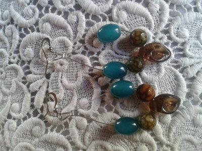 Orecchini perle vetro e sintetiche