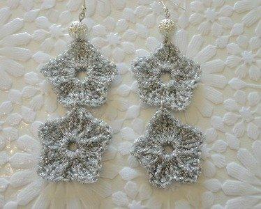 Orecchini stelle d'argento
