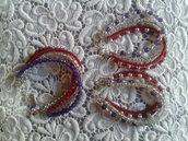 bracciale e orecchini perle sintetiche,vetro e indiane