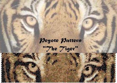 """Schema peyote per bracciale """"Tigre"""""""