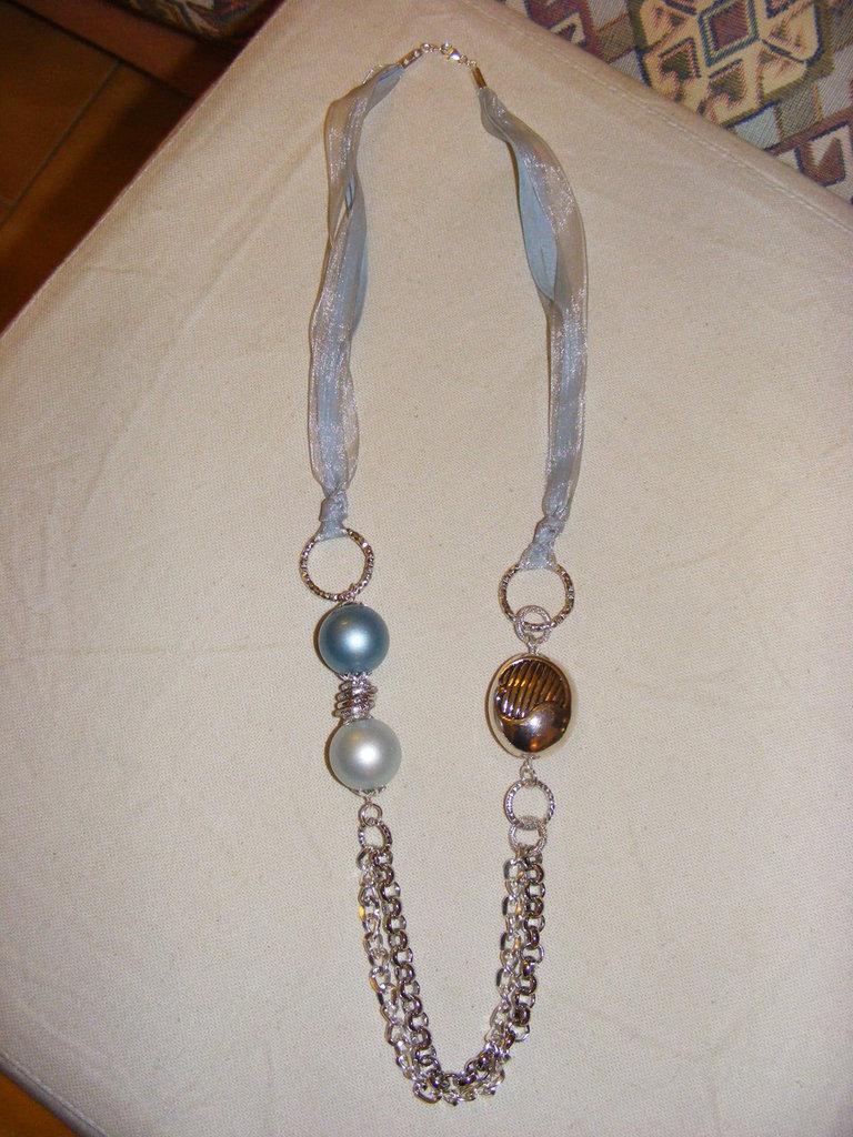 Collana lunghezza media con perle grandi gioielli collane di su misshobby - Collane di design ...