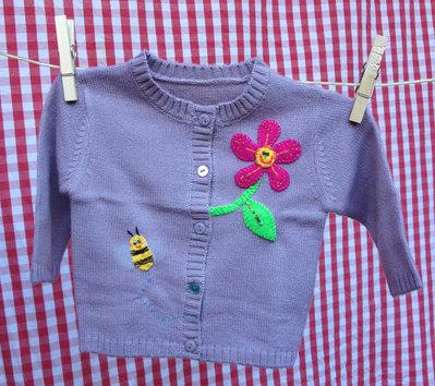 MAGLIONCINO bambina con apetta e fiorellino