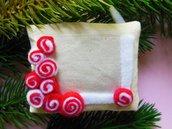 Cornice in tessuto: la decorazione per l'albero di natale