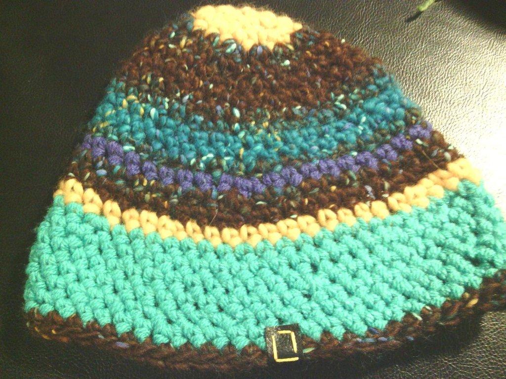 _cappello uomo donna  ragazzo in lana variegata, fatto a mano all'uncinetto C037_