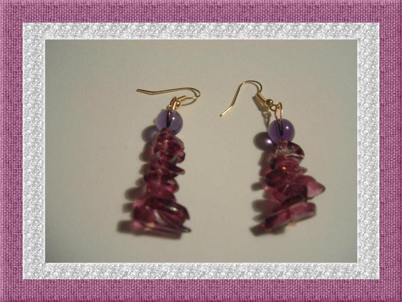 Orecchini Purple Rain