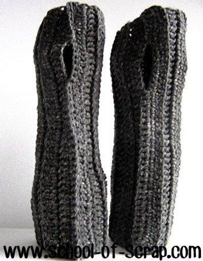Spiegazione Pattern arm warmers - guanti senza dita UNISEX a Crochet Uncinetto (idea regali di Natale e san valentino)
