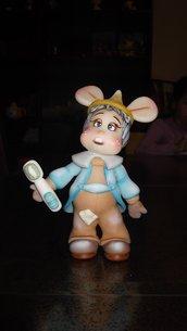 Topo Gigio,fatto a mano con pasta di mais