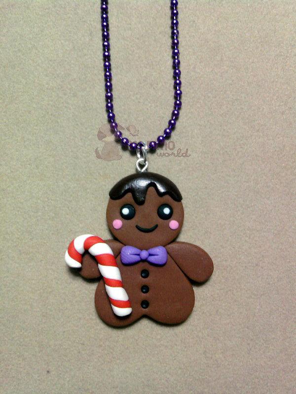 Collana con gingerbread fimo