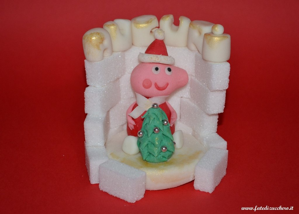 Cake Topper natalizio Peppa Pig