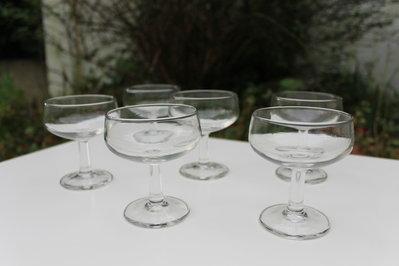 Coppe champagne in vetro vintage