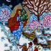 Notte di Natale angelo inverno natura stampa