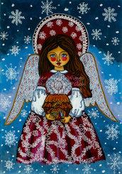 L'angelo di Natale presepe Natività stampa