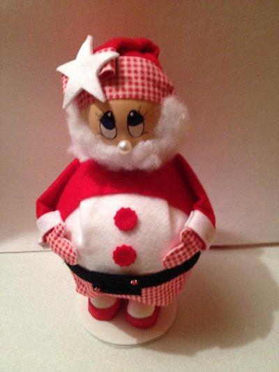 Porta caramelle Babbo Natale