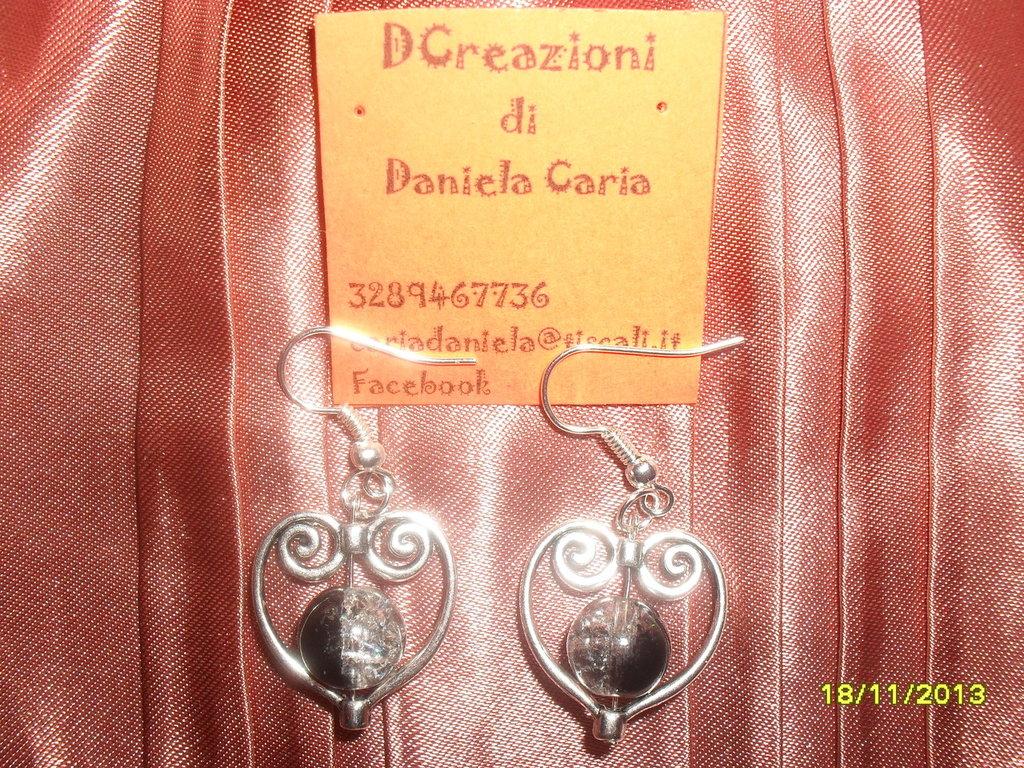 "orecchini ""double face"""