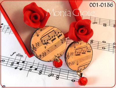 Orecchini note romantiche