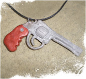 The Walking Dead collana con laccetto cerato e ciondolo in Fimo - Rick