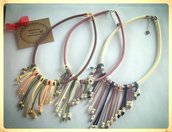 collane con frange e perline