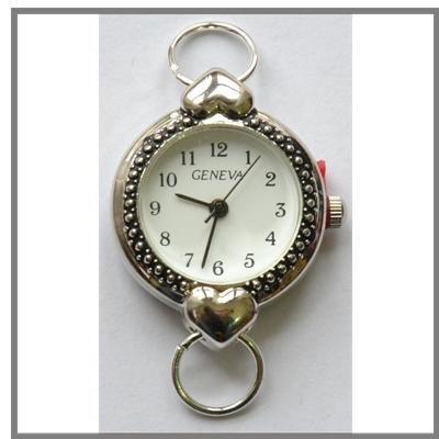 Orologio rotondo con cuori ideale per realizzare braccialetti