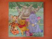 quadro dipinto su tela con soggetto per bambini ispirato ai cartoni animati