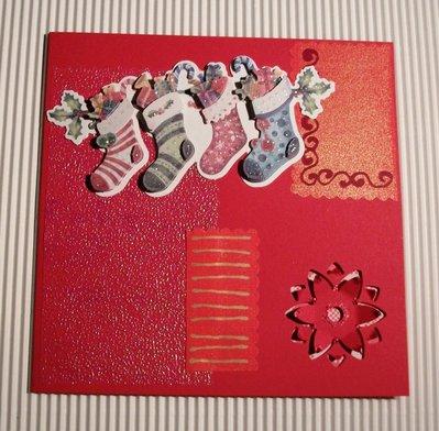 Biglietto di Auguri Natalizio Rosso 2 - Red Christmas Cardmaking & Scrap