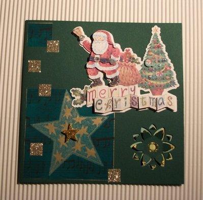 Biglietto di Auguri Natalizio Verde 2 - Green Christmas Cardmaking & Scrap