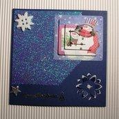 Biglietto di Auguri Natalizio Blu 2 - Blue Christmas Cardmaking & Scrap