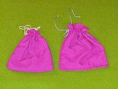 coppia sacchetti di stoffa fucsia