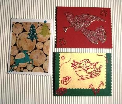 Bigliettini di Auguri Natalizi - Christmas Cardmaking & Scrap - Lotto (3pz)