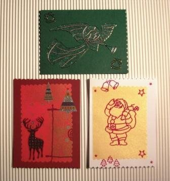 Bigliettini di Auguri Natalizi 2 - Christmas Cardmaking & Scrap - Lotto (3pz)