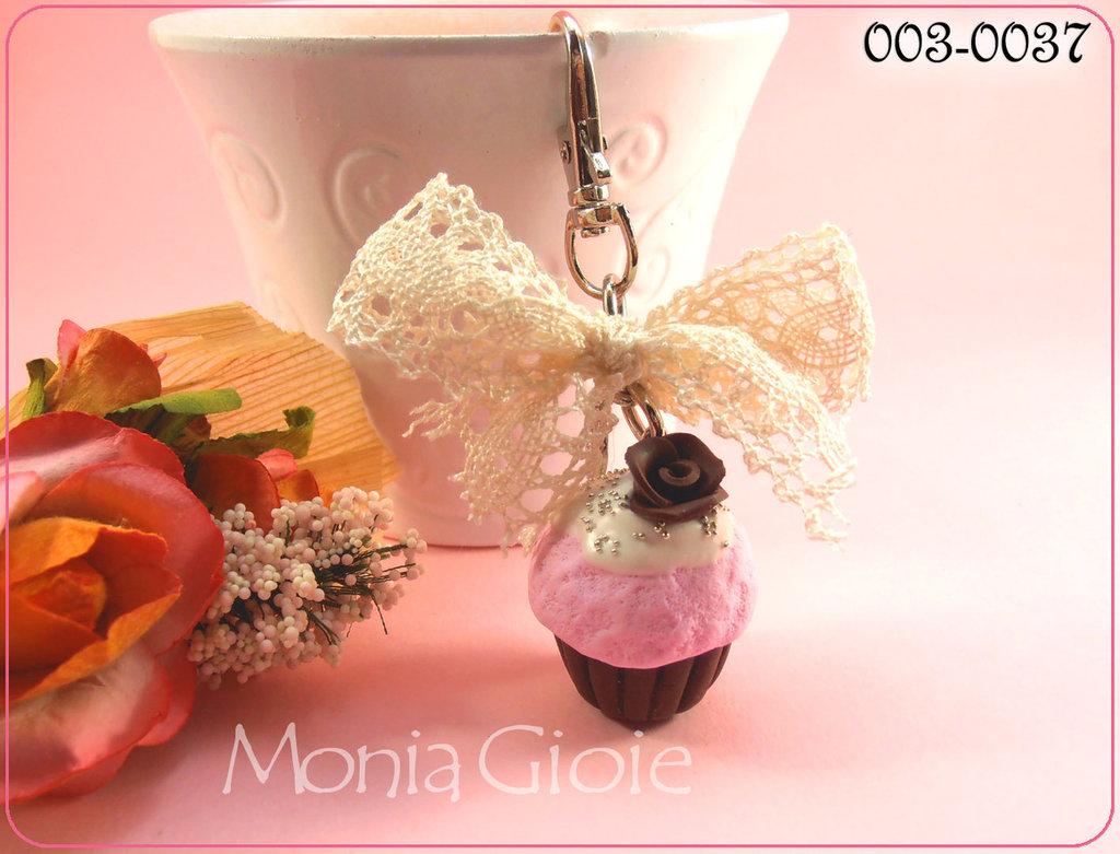 Portachiavi cupcacke romantico